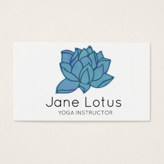 Carte de visite de yoga de Lotus