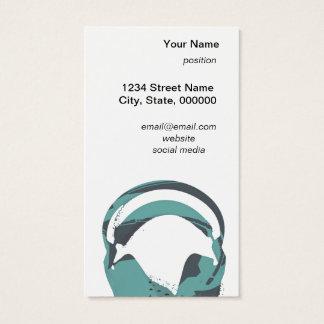 carte de visite d'écouteurs d'enregistrement