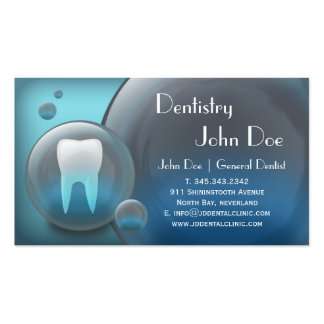 Carte de visite dentaire de bulle blanche élégante