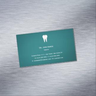 Carte de visite dentaire élégant d'Aqua