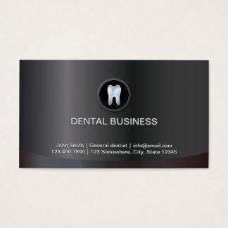 Carte de visite dentaire métallique de dents