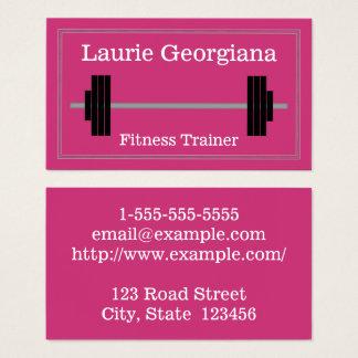 Carte de visite d'entraîneur de forme physique