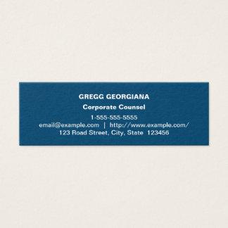 Carte de visite d'entreprise de base bleu-foncé
