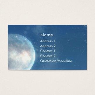Carte de visite d'imaginaire de lune bleue de KRW