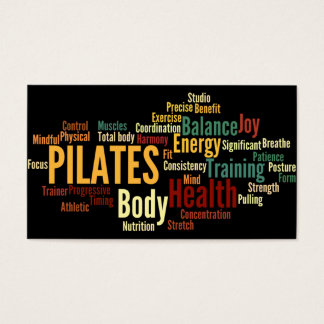 Carte de visite d'instructeur de PILATES
