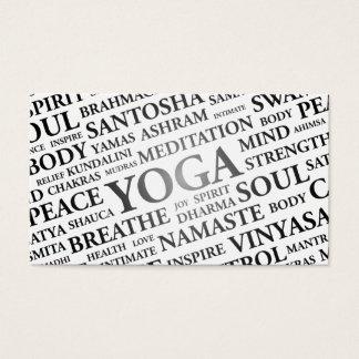 Carte de visite d'instructeur de YOGA - mots de