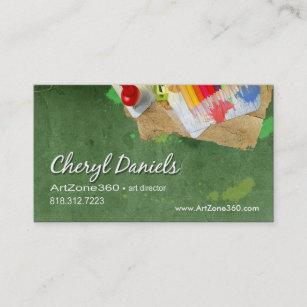 Carte De Visite Directeur Artistique Peintre Dartiste Graphique