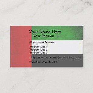 Carte De Visite Drapeau Arabe Enerve Moderne