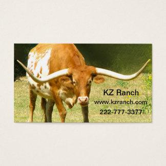 Carte de visite du Texas Longhorn
