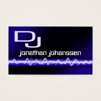 Carte de visite électrique moderne du DJ de