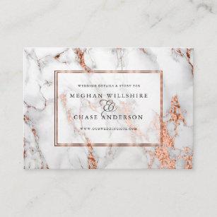 Carte De Visite Elegance Audacieuse Mariage Cuivre Et