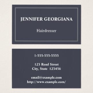 Carte de visite élégant et de base de coiffeur