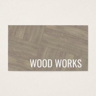 Carte de visite en bois de conception de motif de