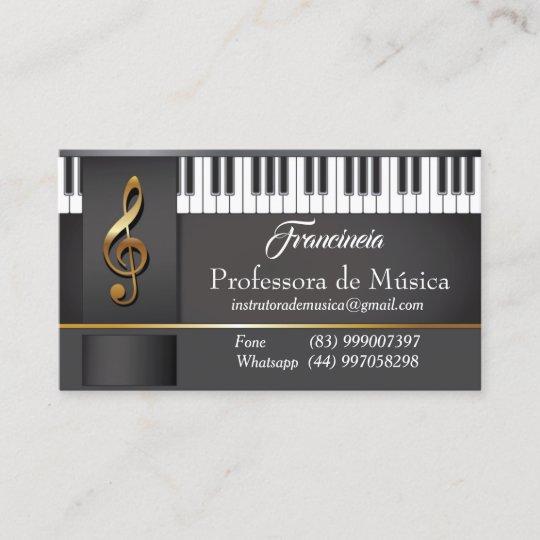 Carte De Visite Enseignant Musica