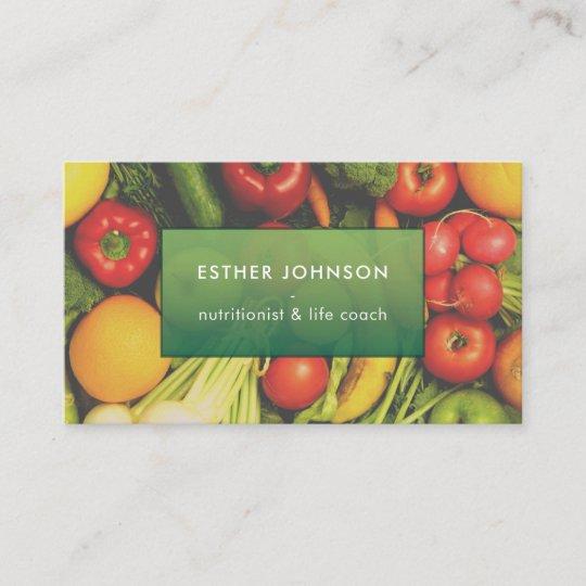 Carte De Visite Entraineur Elegant Moderne La Vie Nutrition