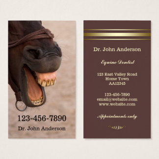 Carte de visite équin de dentiste