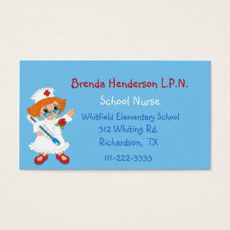 Carte de visite fait sur commande d'infirmière