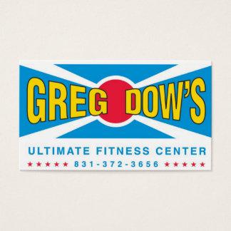 Carte de visite final de centre de fitness de Greg
