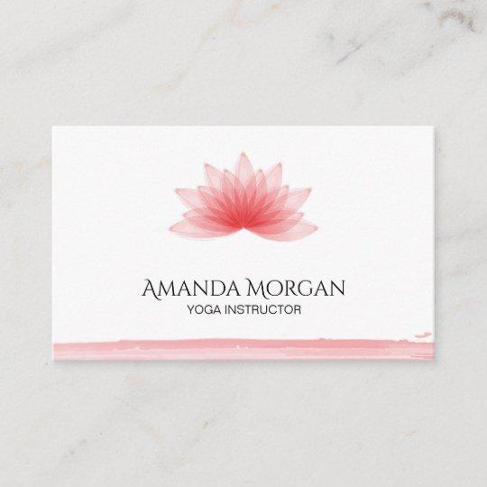 Carte De Visite Fleur Lotus