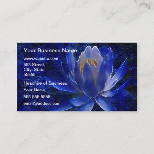 Carte De Visite Fleur Lotus Bleu