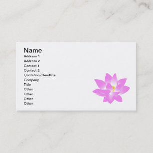 Carte De Visite Fleur Lotus Rose