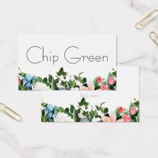 carte de visite floral de jardin de fleurs de
