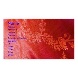 Carte de visite floral rouge d'artiste d'élégance