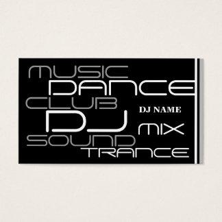 Carte de visite frais du DJ