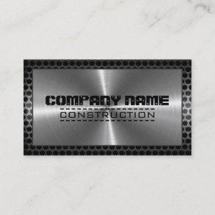 Carte De Visite Frontiere Moderne En Metal Inoxydable Chrome