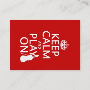 Carte De Visite Gardez Le Calme Et Jeu Sur Violon Toute