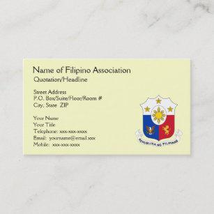 Carte De Visite Generique Dassociation Philippine