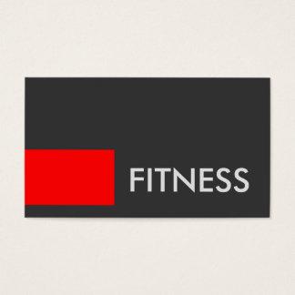 Carte de visite gris rouge simple de sport