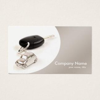 Carte de visite gris simple de location de voiture