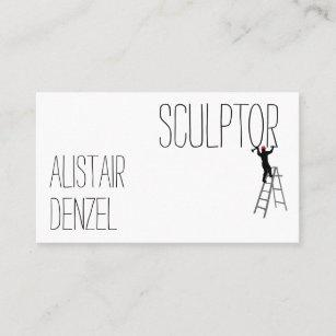 Carte De Visite Homme Drole Sculpteur Personnalisable