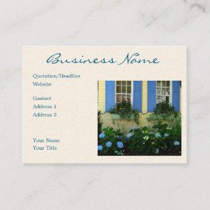 Carte De Visite Hortensias Bleu Volet