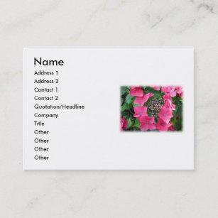 Carte De Visite Hortensias Fleurs Roses Blanc