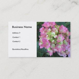 Carte De Visite Hortensias Roses Mous