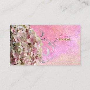 Carte De Visite Hortensias Roses Vintages Fleuristes PixDezines