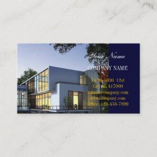 Carte De Visite Immobiliers Constructeur A La Maison Moderne