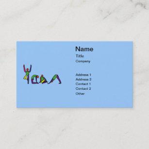 Carte De Visite La Peinture Du Yoga Pose Le YOGA Dorthographe