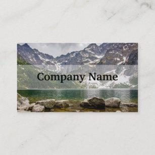 Carte De Visite Lac Mountain Montagnes Tatra Photo Paysage