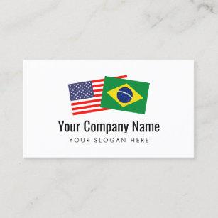 Carte De Visite Langlais Americain Portugais Bresilien De