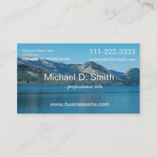 Carte De Visite Le Beaux Lac Ciel Et Montagne Bleus Amenagent En