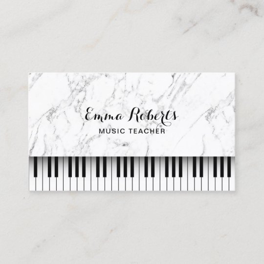 Carte De Visite Le Piano Professeur Musique Verrouille