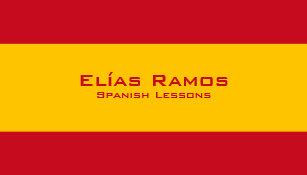 Carte De Visite Lecons Espagnoles Professeur Espagnol