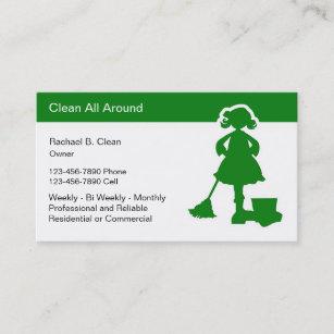 Carte De Visite Lentreprise Services Nettoyage Carde