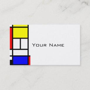 Carte De Visite Les Rectangles MOSAIQUE Ajuste Ont Colore I