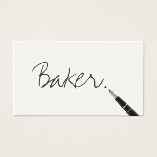 Carte de visite libre de Baker de manuscrit