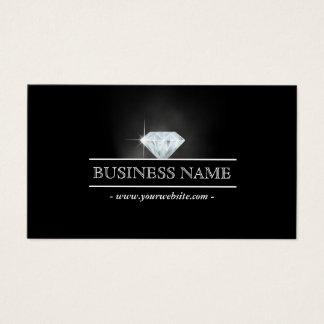 Carte de visite lumineux de luxe de bijoux de