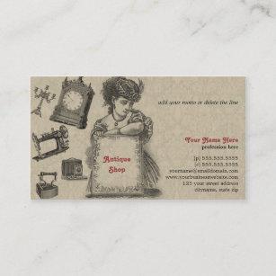 Carte De Visite Magasin Dantiquits Brocanteur Art Vintage